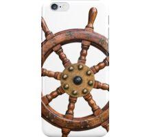 Vintage Ships Wheel iPhone Case/Skin