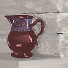 Still Life with Copper Luster Jug by Sarah Countiss