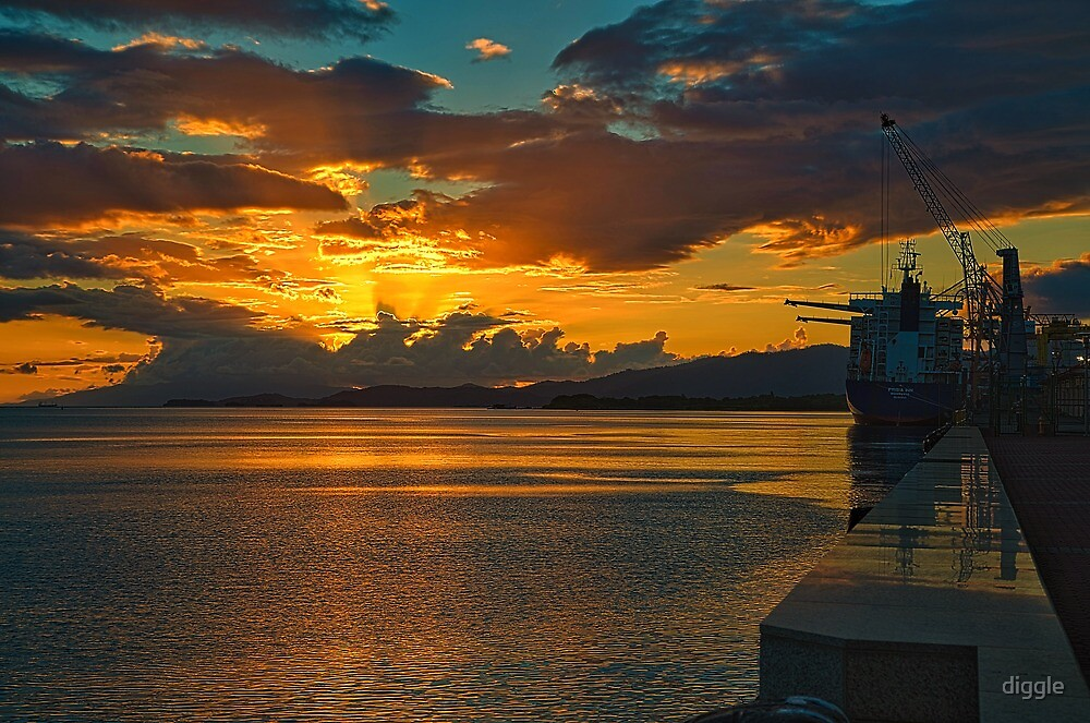 Port-of-Spain Sunset by diggle