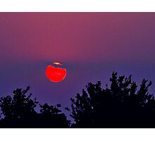 Vivid Red Ball Photographic Print