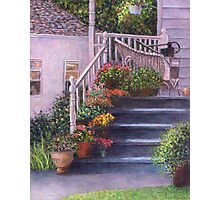 Porch With Watering Cans Photographic Print