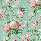 Vintage Floral Wallpaper by Kate Bloomfield