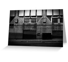 Alleyways of big time business.  Greeting Card