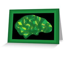 Veg Head (Think Green) Greeting Card