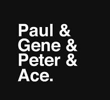 Paul & Gene & Peter & Ace Kiss T-Shirt Unisex T-Shirt