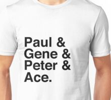 Paul & Gene & Peter & Ace Kiss T-Shirt Unisex T-Shirt