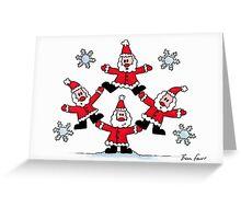 Santas Greeting Card