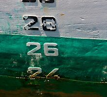 Waterline on the hull of a ship by crazylemur