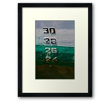 Waterline on the hull of a ship Framed Print