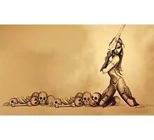 Warrior Girl Photographic Print