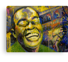 """Satchmo"" (Jazzy Cake Paint) Canvas Print"