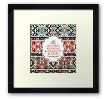 Seamless  pattern in tribal style Framed Print