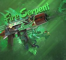 Ak-47   Fire Serpent #2 by Gamers
