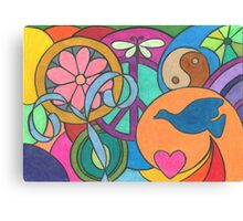Peace, Love, and Balance Canvas Print