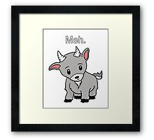 Meh. - Goat of indifference  Framed Print