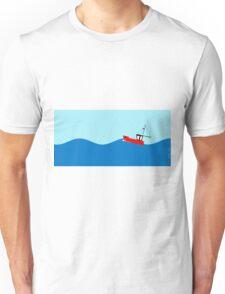 Fishing boat on the high seas Unisex T-Shirt