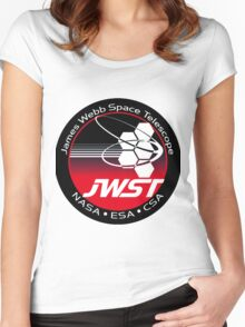 James Webb Space Telescope Component Logo Women's Fitted Scoop T-Shirt
