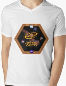 James Webb Space Telescope - NASA Program Logo Mens V-Neck T-Shirt