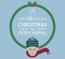 Home Alone Merry Christmas ya filthy Animal Kids Tee