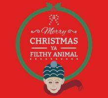 Home Alone Merry Christmas ya filthy Animal Baby Tee