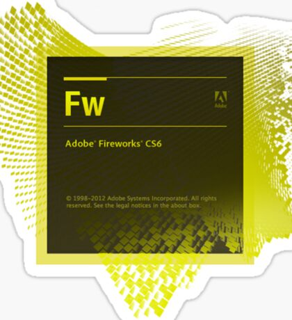 Fire Works CS6 Splash Screen Sticker