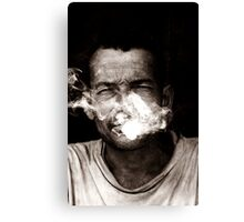 the last smoke Canvas Print