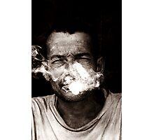 the last smoke Photographic Print