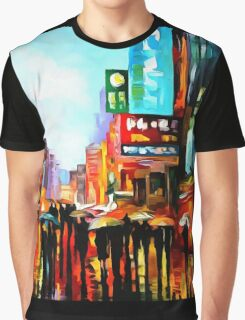 Lights of Downtown Graphic T-Shirt