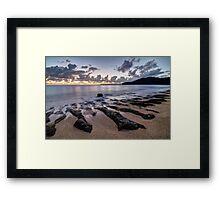 Sunrise in Haena HDR Framed Print