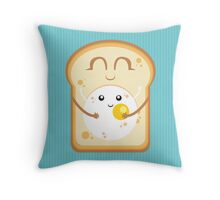 Hug the Egg Throw Pillow