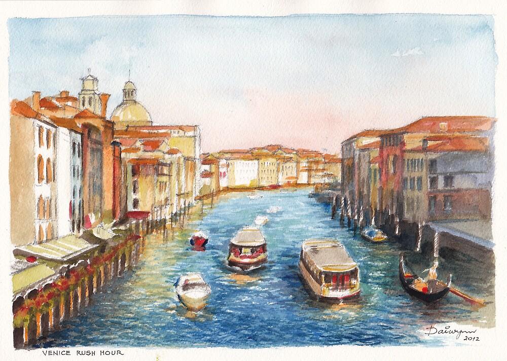 Venice Rush Hour by Dai Wynn