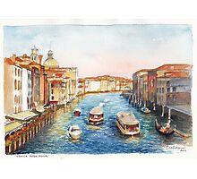 Venice Rush Hour Photographic Print