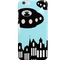 Aliens invading Amsterdam iPhone Case/Skin