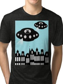 Aliens invading Amsterdam Tri-blend T-Shirt