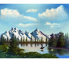 Landscape Montain Lake Photographic Print