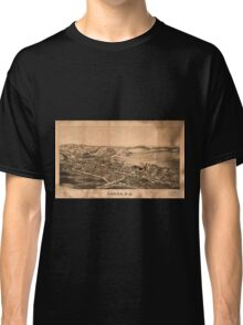 Panoramic Maps Fonda NY Classic T-Shirt