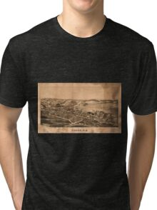 Panoramic Maps Fonda NY Tri-blend T-Shirt