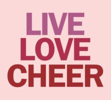 Live Love Cheer by personalized