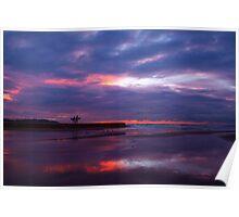 purple skies I Poster