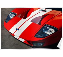 Ford GT: Red and White Poster