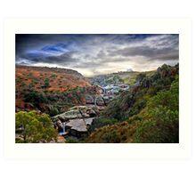 A Grand View - Mannum Falls, Murraylands, SA Art Print