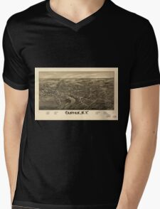 Panoramic Maps Canton NY Mens V-Neck T-Shirt