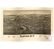 Panoramic Maps Canton NY Poster