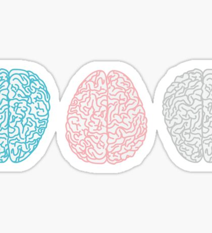 Brainy Pastel Pattern (Awesome Pastel Brains) Sticker
