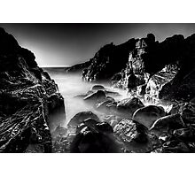 Bombo Rocks #2 ~ B&W Photographic Print