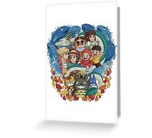 Totoro & Company Greeting Card