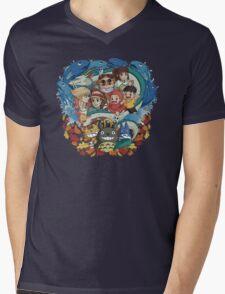 Totoro & Company Mens V-Neck T-Shirt
