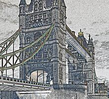 Tower Bridge London Art by DavidHornchurch