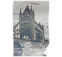 Tower Bridge London Art Poster