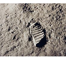 First Step on the Moon Photographic Print